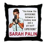 Sarah Palin - The Difference Throw Pillow