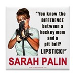 Sarah Palin - The Difference Tile Coaster