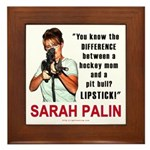 Sarah Palin - The Difference Framed Tile