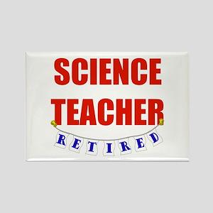 Retired Science Teacher Rectangle Magnet