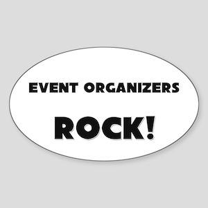 Event Organizers ROCK Oval Sticker