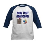 Home Sweet Homeschool Kids Baseball Jersey