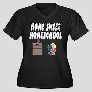 Home Sweet Homeschool Women's Plus Size V-Neck Dar