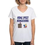 Home Sweet Homeschool Women's V-Neck T-Shirt