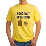 Home Sweet Homeschool Yellow T-Shirt