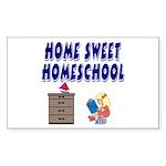 Home Sweet Homeschool Rectangle Sticker