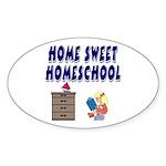 Home Sweet Homeschool Oval Sticker