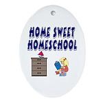 Home Sweet Homeschool Oval Ornament