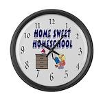 Home Sweet Homeschool Large Wall Clock