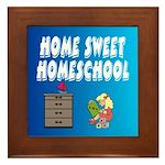 Home Sweet Homeschool Framed Tile