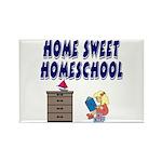 Home Sweet Homeschool Rectangle Magnet (10 pack)