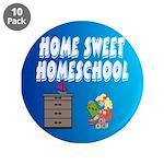 """Home Sweet Homeschool 3.5"""" Button (10 pack)"""