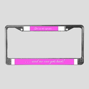 Sweet Things License Plate Frame