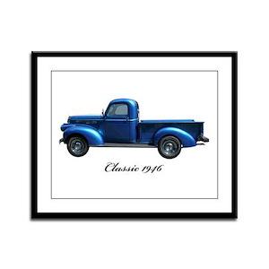 1946 Vintage Pickup Truck Framed Panel Print