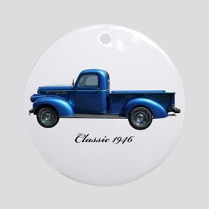 1946 Vintage Pickup Truck Ornament (Round)
