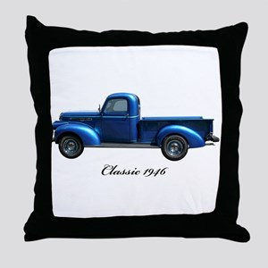1946 Vintage Pickup Truck Throw Pillow
