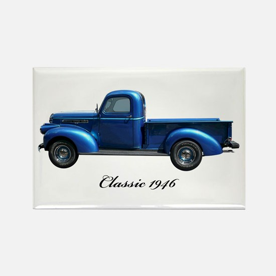 1946 Vintage Pickup Truck Rectangle Magnet