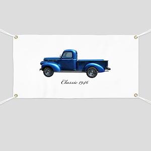 1946 Vintage Pickup Truck Banner