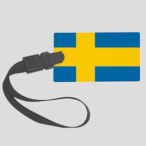 Flag: Sweden Large Luggage Tag