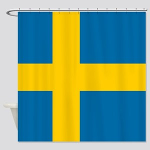 Flag: Sweden Shower Curtain