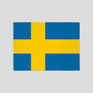 Flag: Sweden 5'x7'Area Rug