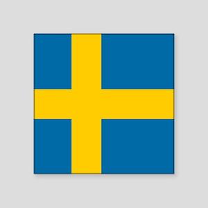 "Flag: Sweden Square Sticker 3"" x 3"""