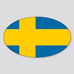 Flag: Sweden Sticker (Oval)
