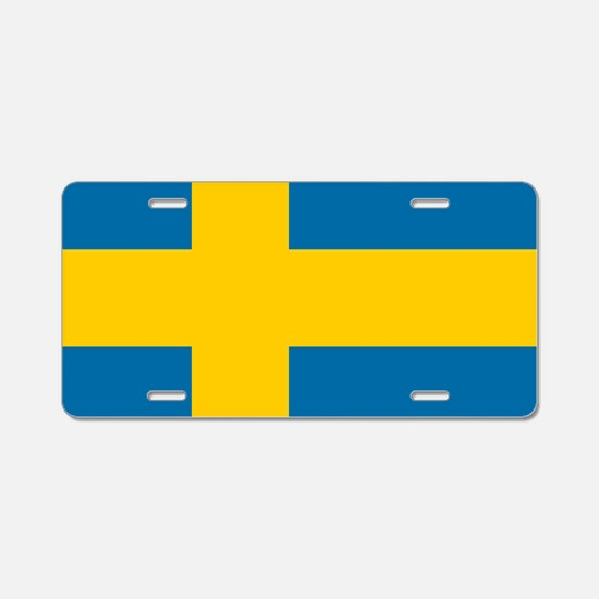 Flag: Sweden Aluminum License Plate