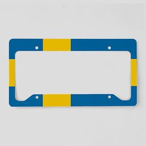 Flag: Sweden License Plate Holder