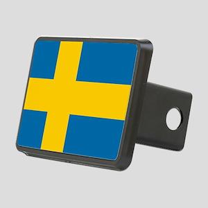 Flag: Sweden Rectangular Hitch Cover