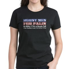 Horny Men for Palin Women's Dark T-Shirt