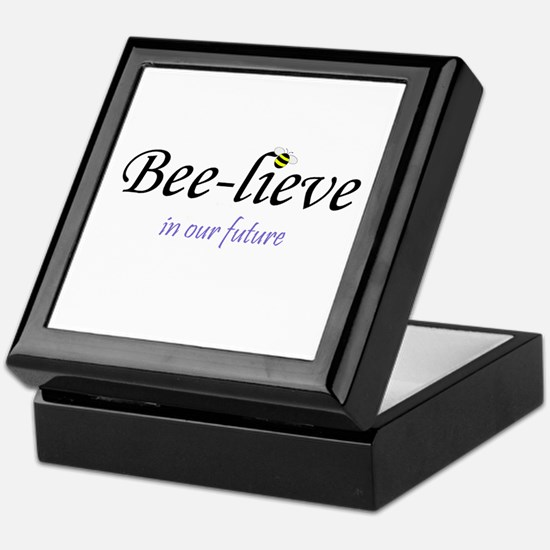 BEE-LIEVE IN OUR FUTURE Keepsake Box