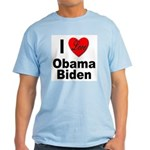 I Love Obama Biden Light T-Shirt
