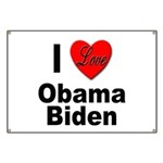I Love Obama Biden Banner