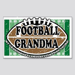 Football Grandma Rectangle Sticker
