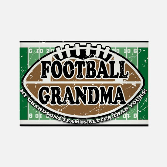 Football Grandma Rectangle Magnet