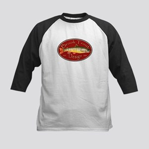 Brook Trout Logo Kids Baseball Jersey