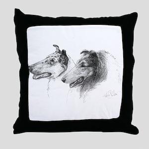 Rough & Smooth Collies Throw Pillow