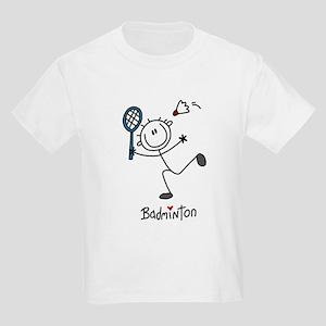 Stick Figure Badminton Kids Light T-Shirt