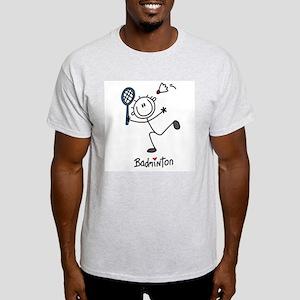 Stick Figure Badminton Light T-Shirt