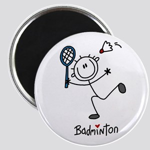 Stick Figure Badminton Magnet