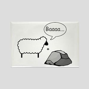 Barack Sheep and Rock Rectangle Magnet