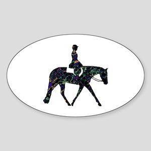 Hunter Floral Oval Sticker