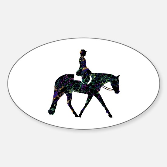 Hunter Floral Oval Decal