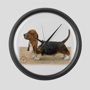 Basset Hound 9J051D-05 Large Wall Clock