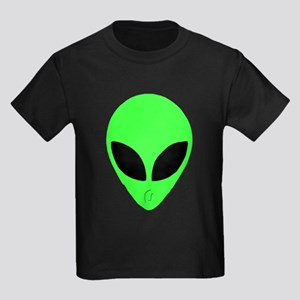 Alien Head Design 2 Kids Dark T-Shirt