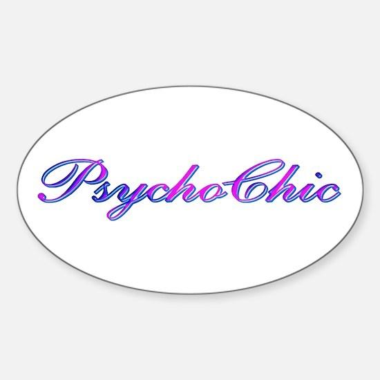 Purple PsychoChic Oval Decal