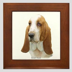 Basset Hound 8K92D-07 Framed Tile