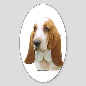 Basset Hound 8K92D-07 Sticker (Oval)