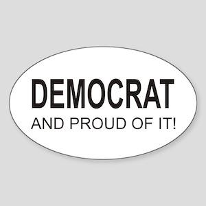 The Proud Democrat Oval Sticker